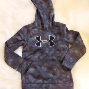 Boys Storm 1 Under Armour Hoodie Gray